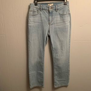 NWT Eileen Fisher jeans size 4 p Ice Blue